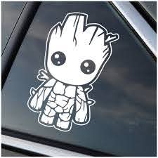Baby Groot Guardians Of The Galaxy Window Decal Sticker Stick Emall Vinyl Decals