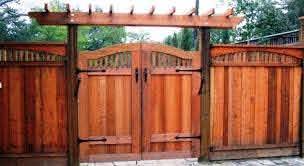 Custom Wood Fence Gates Eyehometours Wood Fence Gate Designs Fence Gate Design Fence Design