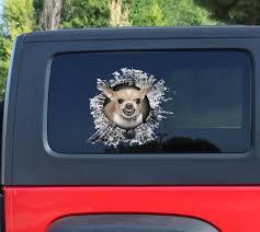 Growling Chihuahua Decal Chihuahua Car Decal Chihuahua Etsy