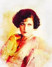 Evelyn Brent, Vintage Actress Painting by Esoterica Art Agency
