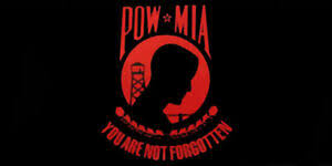 Pow Mia You Are Not Forgotten Black Red Vinyl Decal Bumper Sticker 3 75 X7 5 Ebay