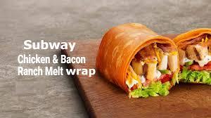 subway en bacon ranch melt wrap