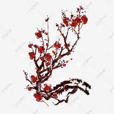 شتاء أحمر البرقوق مغطى بالثلج ثلج البرقوق الشتاء حديقة الزهور