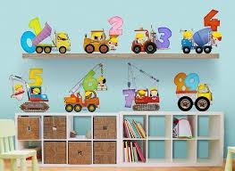 construction kids 123 s wall decal set