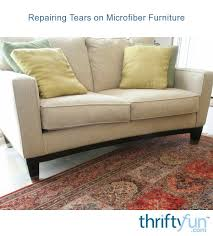 repairing tears on microfiber furniture