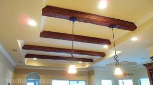faux wood work false ceiling