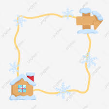 Yellow Line Side Snow House Border Snow House Snowflake Border Cartoon Fence Border Png Transparent Clipart Image And Psd File For Free Download