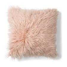 zsa zsa faux fur cushion pink kmart