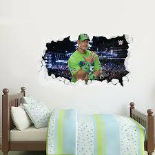 Wwe Wall Sticker John Cena Smashed Graphic Decal Mural Vinyl Bedroom Kids Ebay