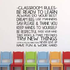 Classroom Decoration Classroom Rules Vinyl Decor Wall Decal Customvinyldecor Com