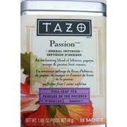 tazo pion herbal tea calories