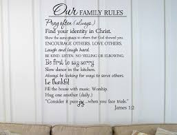 Our Family Rules Vinyl Wall Art Decal Inspirational Quote Sticker Walmart Com Walmart Com