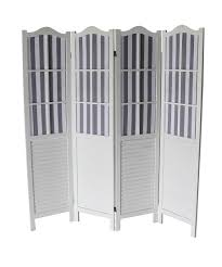 7043 White Shutter Arc 4 Panel Room Divider 7043 Wh Milton Greens Stars Lowest Price Possible With Best Possible Value