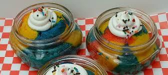 superman ice cream cupcakes in a jar