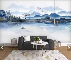 3d Abstract Mountain Forest View Wall Mural Creative Wallpaper Art Wall Decals Murals Contact Paper Customize Modern Wallpapers Wallpapers Aliexpress
