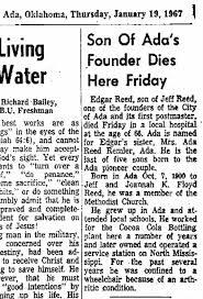 Granddad Ed Reed died Jan 1967. - Newspapers.com