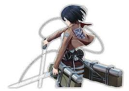 Attack On Titan Mikasa Ackerman Anime Car Decal Sticker 011 Anime Stickery Online