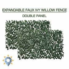 Garden Land Artificial Leaf Faux Ivy Expandable Stretchable Privacy Fence Screen For Sale Online Ebay