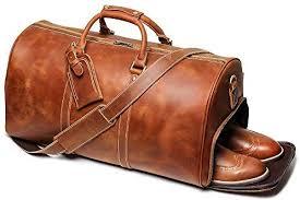 leathfocus leather travel duffel bag