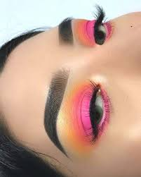 neon colored eye makeup look for summer