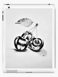 """Cherries,Graphite pencil drawing"""" iPad Case & Skin by adriana-holmes 