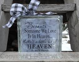 Memorial Vinyl For Glass Blocks In Loving Memory And Grief Decals