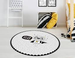 Pvc Rug For Kids Room Featuring A Superhero Lion In Etsy