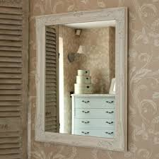 large ornate white wall mirror shabby