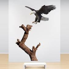 Bald Eagle And Tree Wall Sticker Animal Wall Decor Tree Removable Wall American Wall Designs