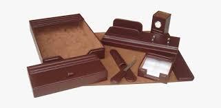 leather desk accessories set png