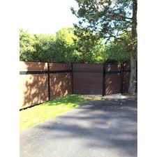 Veranda Euro Style 6 Ft H X 6 Ft W Estate Black Rose Aluminum Composite Horizontal Fence Section Ef 01402 The Home Depot