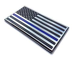 Thin Blue Line Us American Flag Metal Buy Online In Dominican Republic At Desertcart