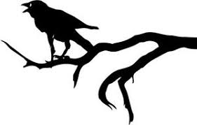 Crow On Branch Vinyl Decal Raven Goth Horror Bumper Sticker Car Ebay