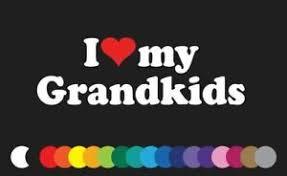 I Love My Grandkids Vinyl Decal Sticker Kids Grandma Grandpa Window Laptop Heart Ebay