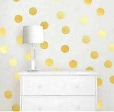Gold Wall Decals Dots Wall Decals