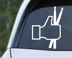 Facebook Thumbs Up Drums Die Cut Vinyl Decal Sticker Decals City