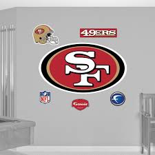 Fathead San Francisco 49ers Logo Wall Graphic In 2020 San Francisco 49ers Logo Logo Wall Wall Graphics
