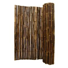 Natural Black Rolled Bamboo Fencing 1 X 8 X 8 Forever Bamboo