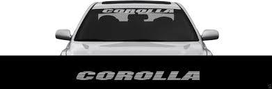 Corolla Toyota Front Windshield Banner Window Decal Sticker Trd Wish