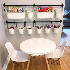 I Am Obsessed With This Arts And Crafts Set Up Perfectlyplacedorg Ikea Ikeahacks Ikeakids Kid Room Decor Kids Play Room Organization Home Decor