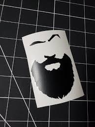 The Beard Vinyl Decal Vinyl Sticker Vinyl Wall Decal Car Decal Etsy