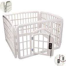 Wttttw Pet Playpen Exercise Pen Dog Fence Animal Kennel Cage Yard Travel Camping Wire Portable Folding Indoor Outdoor Crate For Dogs With Door Amazon Co Uk Sports Outdoors