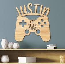 Name Sign Gamer Kids Room Sign Boys Room Decor Personalized Etsy