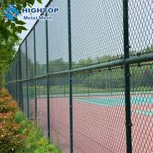 China Pvc Coated Removable Chain Link Fence With Barbed Wire China Chain Link Fence Chain Link Wire Mesh