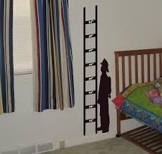 Amazon Com Arise Decals Fireman Growth Chart Wall Decal Kids Sticker Children Home Kitchen