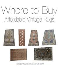 where to affordable vintage rugs