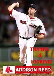 ADDISON REED 2017 BOSTON RED SOX BASEBALL CARD
