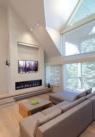 images of linear fireplaces with tvs