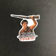 Evil Dead Ash Bruce Campbell Vinyl Sticker