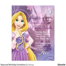 Invitacion De Cumpleanos De Rapunzel Zazzle Com Invitaciones